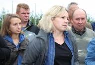 FOT. 5. Magdalena Kapłan omówiła prowadzone w gospodarstwie doświadczenia