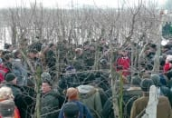 Fot. 1. Sadownicy uczestniczący w pokazie cięcia jabłoni