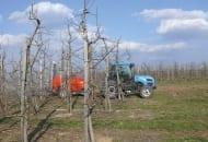FOT. 2a. Wczesnowiosenne opryski jabłoni nawozami zawierającym i cynk i bor