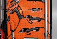 Fot. 2. Narzędzia firmy Bahco – sekatory pneumatyczne, elektryczne oraz pilarka BCL132
