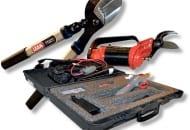 Fot. 3. Sekatory Lisam z serii Tytron, sekator pneumatyczny SLY oraz elektryczny Blade GT