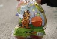 Fot. 4. Rosjanie coraz częściej kupują jabłka o średnicy 65-70 mm – tutaj 'Gloster' pakowany w woreczki po 1 kg