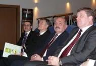 Fot. 4. Bogusław Rzeźnicki (pierwszy z lewej) , Tadeusz Kłos, Adam Zych, Dariusz Wiraszka