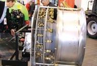 FOT. 10. Okrągła przystawka ze stali nierdzewnej z odwróconym ciągiem powietrza przeznaczona do opryskiwacza Tajfun SAD/OOC