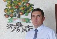 Fot. 1. Krzysztof Tworek, wójt gminy Obrazów, która jabłoń ma w herbie