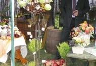 """Fot. 2b. Stoiska Grupy Sadowniczej """"Owoc Sandomierski"""" z Bilczy podczas Europejskiego Święta Jabłka w 2012 r."""
