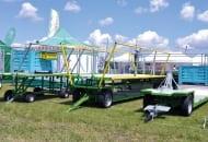 FOT. 3. Wózek sadowniczy oraz nadstawka WS/3S/4S(H) na wózki trzypaletowe z dwiema osiami skrętnymi
