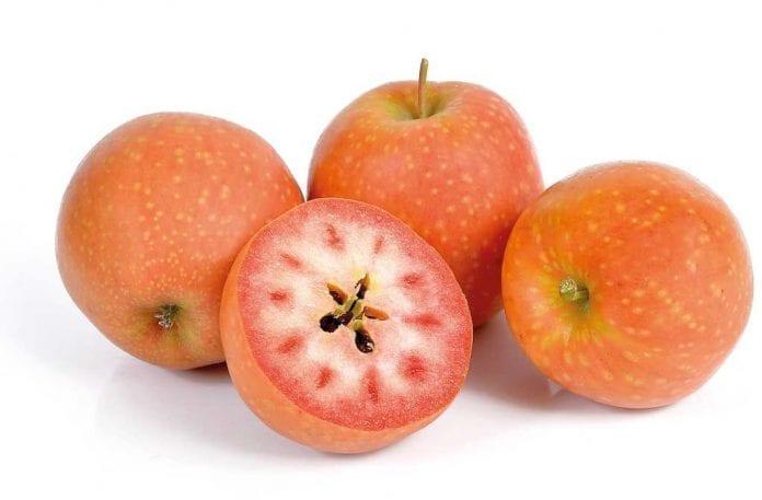 Jabłka o czerwonym miąższu