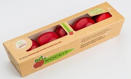 Nowy wygląd i przyjazne dla środowiska opakowanie jabłek Rockit