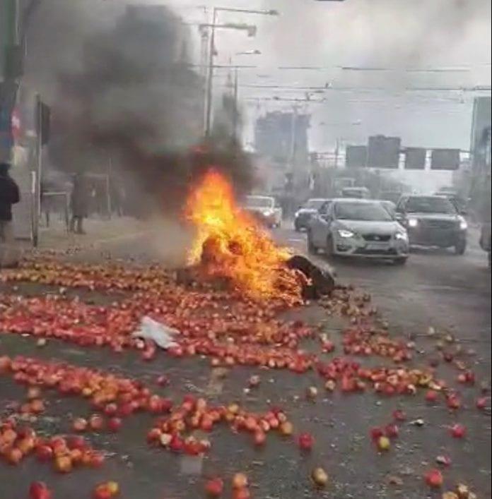 A u nas na Placu Zawiszy staruszka zbiera jabłka do reklamówek…