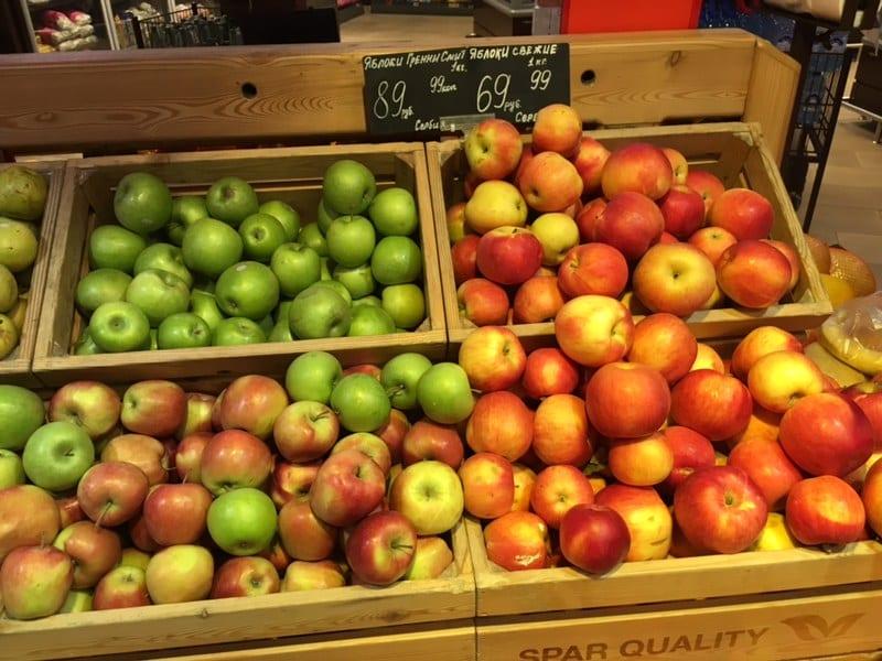 Rosja zmniejszyła import jabłek o 25%.