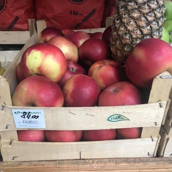 Ceny jabłej w Serbii