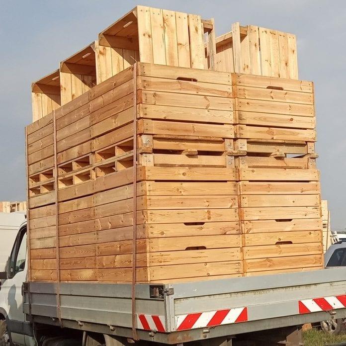 Drewniane skrzyniopalety