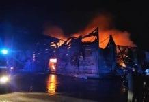 Pożar bydynków grupy producenckiej Top Sad