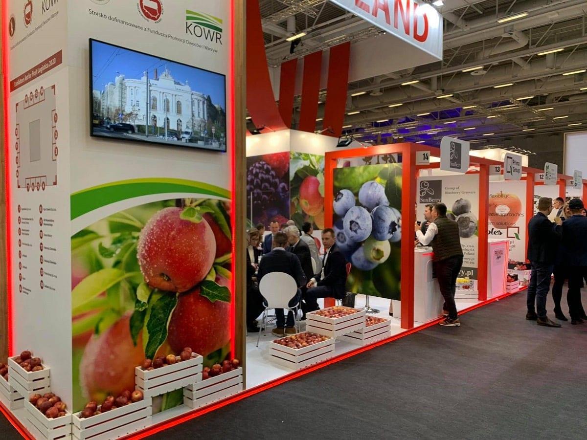 Polskie stoisko narodowe na Targach Fruit Logistica 2020