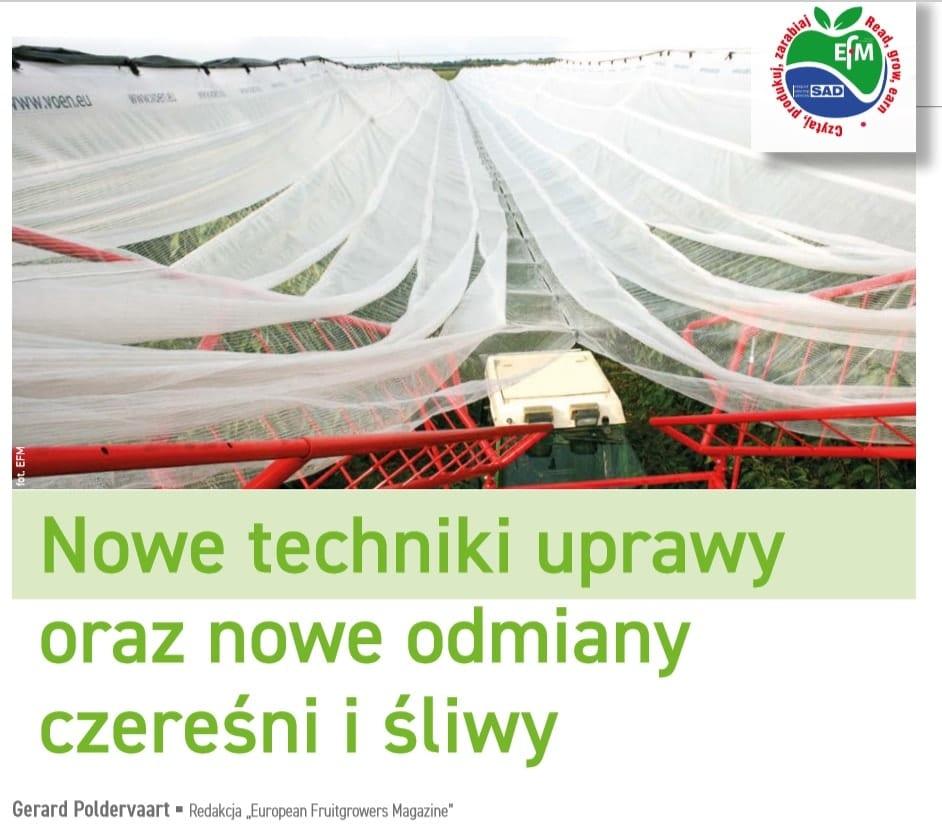 Nowe techniki uprawy oraz nowe odmiany czereśni i śliw - MPS Sad 2/2020
