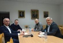 Europoseł Krzysztof Hetman, z którym przedstawiciele Związku Sadowników RP, Zrzeszenia Producentów Wiśni i Krajowego Stowarzyszenia Plantatorów Czarnych Porzeczek spotkali się w poniedziałek 10 lutego br.