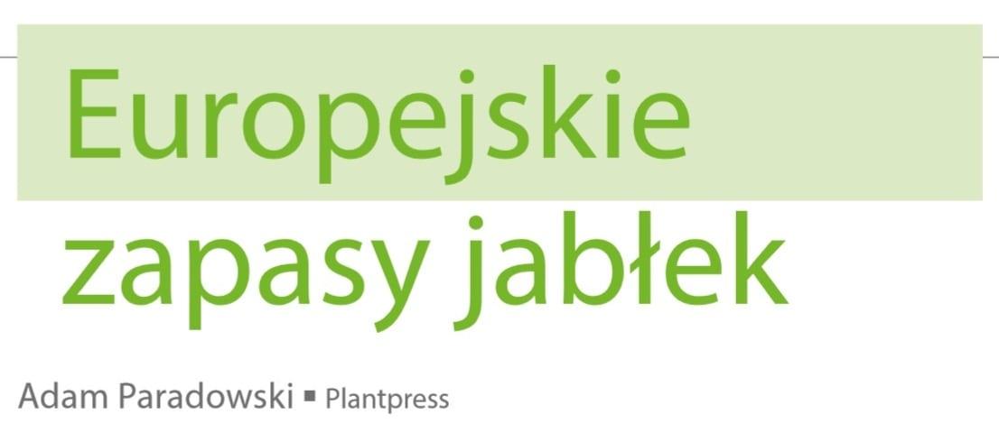 Europejskie zapasy jabłek - okładka, napis