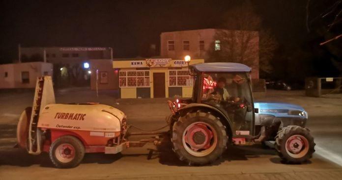 sadownicy dezynfekują Nowe Miasto nad Pilicą!