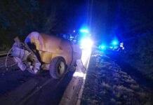 ciągnik wypadek