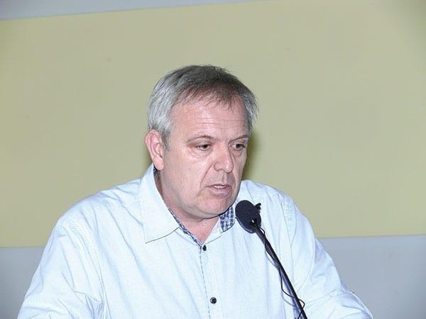 Fot. 4. Mgr Paweł Bielicki z Instytutu Ogrodnictwa w Skierniewicach przedstawił wymagania jakościowe dla drzewek gruszy