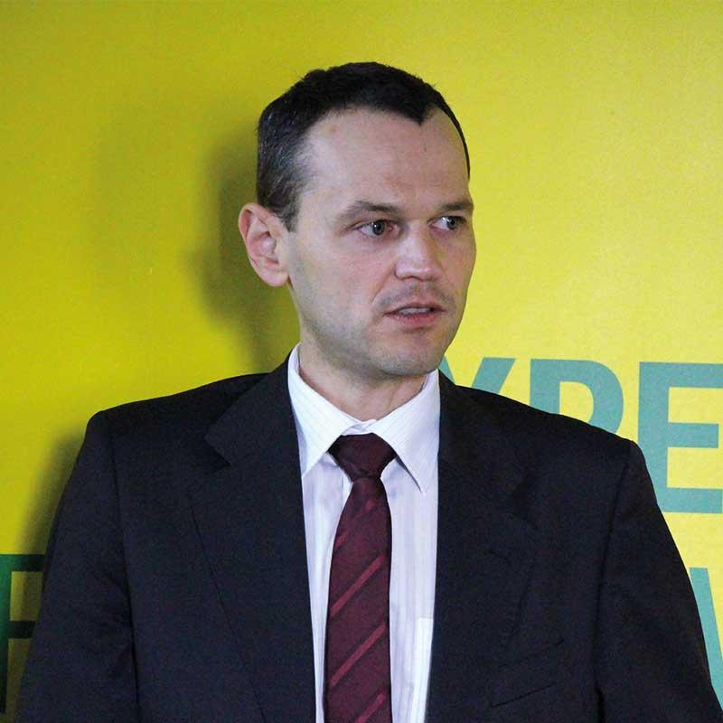 FOT. 1. Piotr Zabuski z COMPO Expert prezentował nawozy Compo Expert