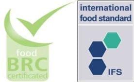 Rys.3. Międzynarodowe loga certyfikatów BRC oraz IFB