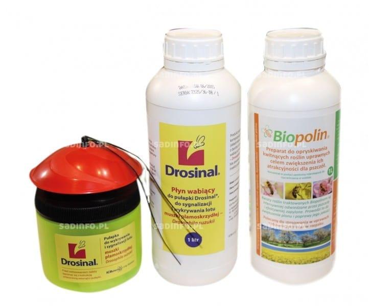 FOT. 16. Pułapka Drosinal®, opakowanie uzupełniające płynu wabiącego i Biopolin