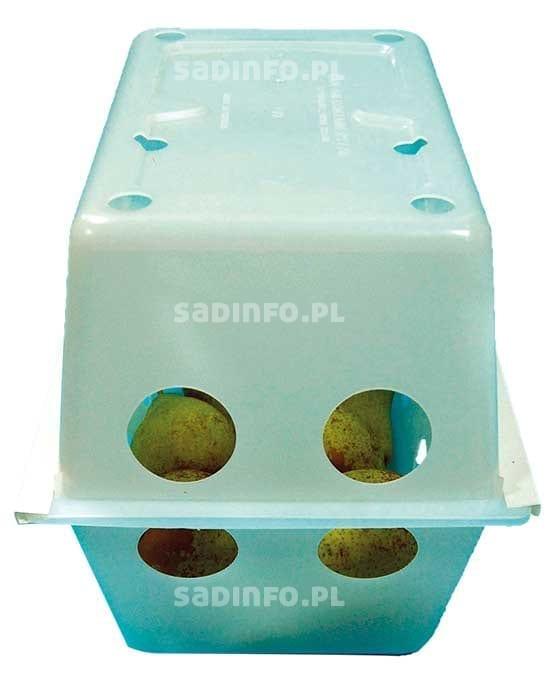 FOT. 3. Pudełko z owocami i sensorem w systemie HarvestWatch