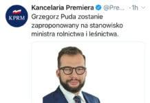 nowy minister rolnictwa i leśnictwa