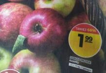 promocja jabłek w markecie