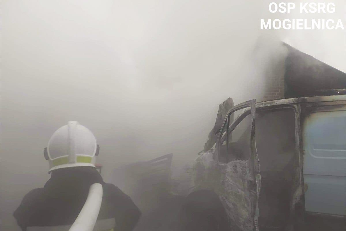 pożar busa