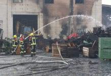 pożar w gospodarstwie sadowniczym