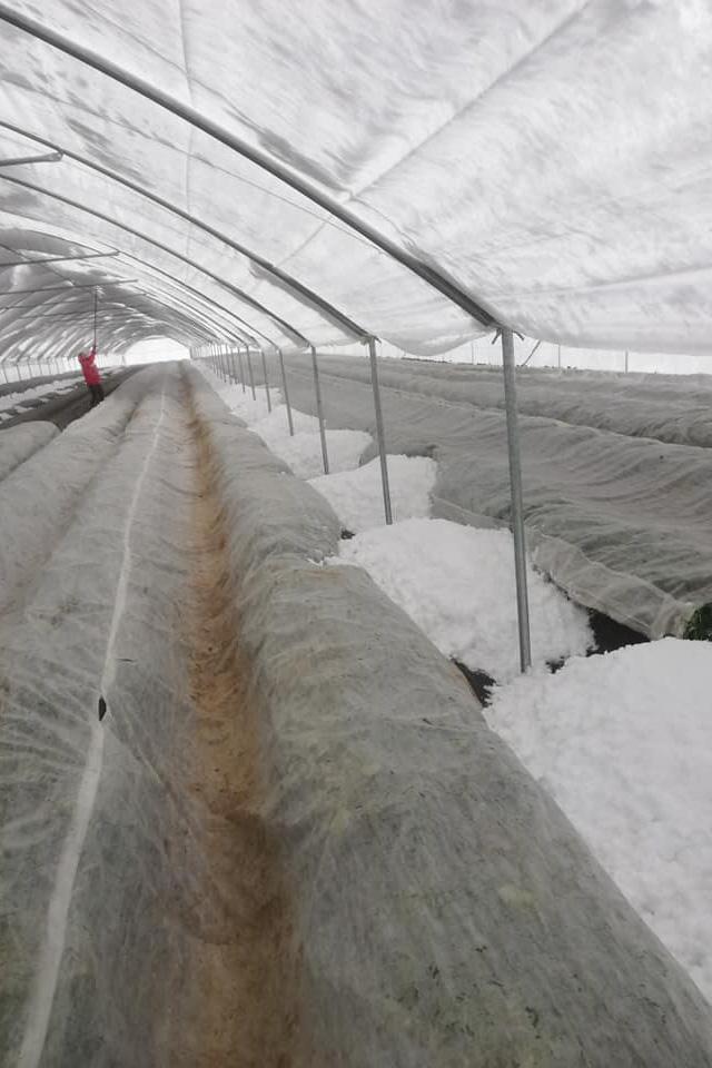 śnieg w tunelu